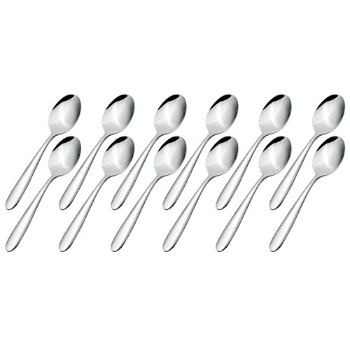 Demitasse Espresso Spoons, Coffee Spoon, Stainless Steel Tea Spoon, 4.9 Inches Dessert Spoons, Mini Sugar Spoon, Set of 12
