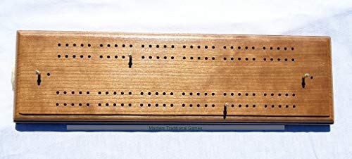 Masters Traditional Games Large Hand Made Cherry Cribbage Board