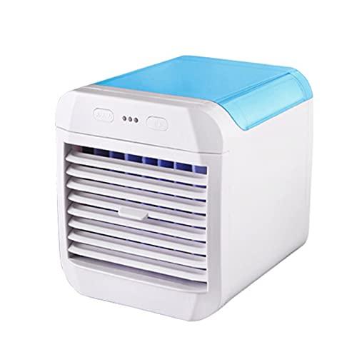 Sailsbury Ventilador de aire acondicionado portátil USB Silent Spray Refrigeración evaporativa Ventilador de aire Ventilador de aire 3 velocidades Suministro de oficina en casa 14.5X16.5X16CM