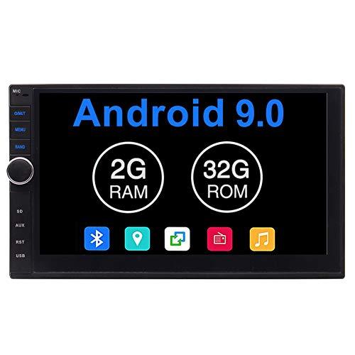 7 Pulgadas estéreo Doble DIN Coche 2 DIN GPS Radio Android 9.0 Pie 32GB ROM de la Unidad Principal de Bluetooth 2 GB de RAM Coche de Asistencia telefónica Mirroring OBD2 3G / 4G / WiFi