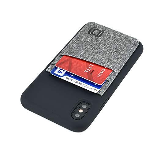 Dockem Luxe M2L - Tarjetera de Silicona Líquida para iPhone XS/X: Cartera con Mayor Protección, Placa Metálica Incorporada para una Montura Magnética