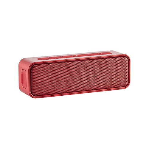 AmazonBasics - Altoparlante Bluetooth, design impermeabile, 9 watt, Rosso
