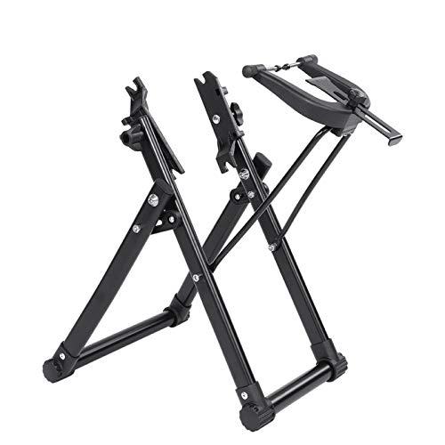 Cavalletti di montaggio per biciclette, manutenzione del cavalletto per centraggio delle ruote di bicicletta Parti di accessori per ciclismo, staffa di centraggio per ruote di bicicletta