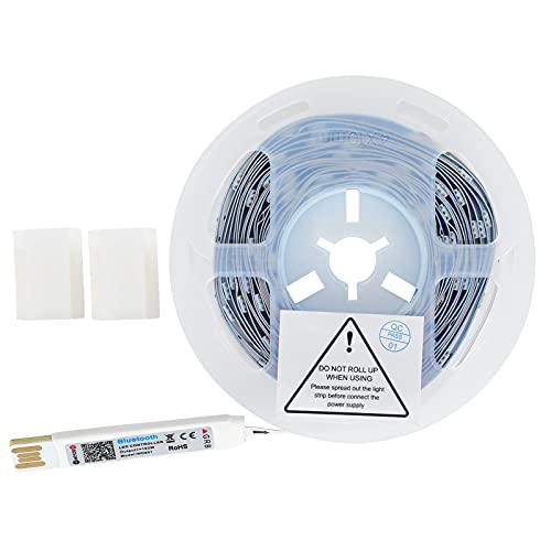 Luz de música RGB, Control de Bluetooth, Tiras de Luces LED de 4 m para Dormitorio para Pared de Fondo para Sala de Estar para KTV