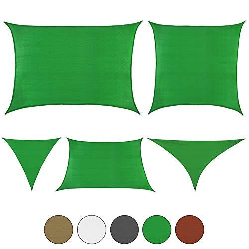 BB Sport Tenda Velo Sole 3m x 4m Cocco Vela Sole Ombreggiante HDPE Protezione Solare UV 90% Parasole Giardino Esterni