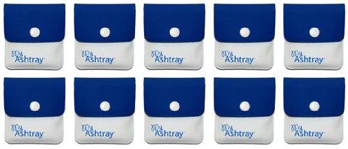 My Ashtray - 10 portacenere mobili a tasca, colore: Bianco/Blu