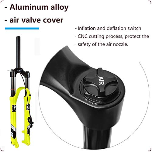 Mountain Bike Air Fork 26 27.5 29 Inch, Magnesium Alloy MTB Suspension Fork Shock Absorber Travel 120mm for 1.5-2.45
