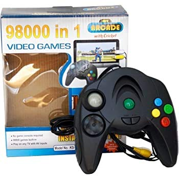 GIFT GALLERY Plastic 98000 in 1 Built-in Video Games - Plugs Into Any TV for Instant Gaming, Requires No Expensive Game Console, VG1_3, Black
