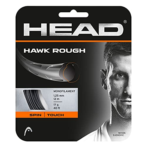 HEAD Hawk Rough Tennis Racket String 40' Set - 17 Gauge Monofilament Racquet String