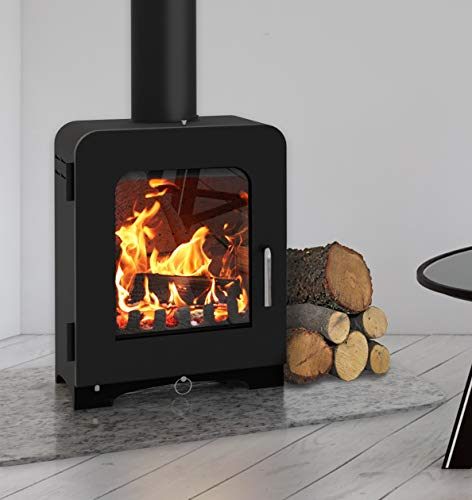 Saltfire ST2 Multifuel Woodburning Stove 5kW DEFRA Approved EcoDesign Clean Burn High Efficiency...