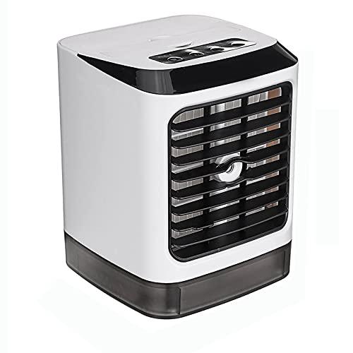 QIYE Ivaporative Air Cooler, 7 Colori LED Mini Air Condizionatore Umidificatore, Desktop Table Raffredding Fan, per Ufficio Domestico Ufficio