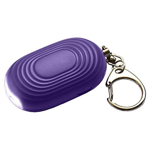Yaootely Llavero de Alarma de ProteccióN Personal - Dispositivo de Sirena SóNica Sonora de 130 DB con Linterna para Aumentar la Seguridad - para Mujeres, Ni?Os, Ancianos (PúRpura)
