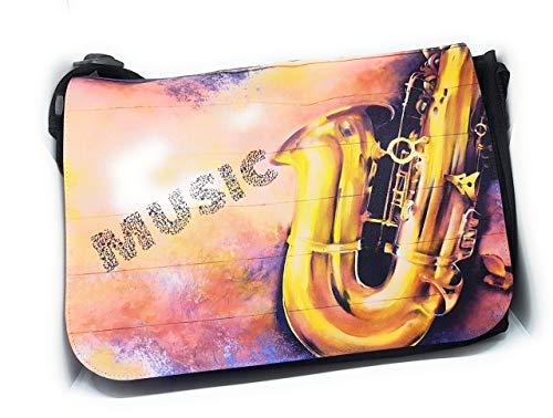 Notentasche Dokumententasche Schultasche – für Saxophon, gerne auch mit Namen personalisiert