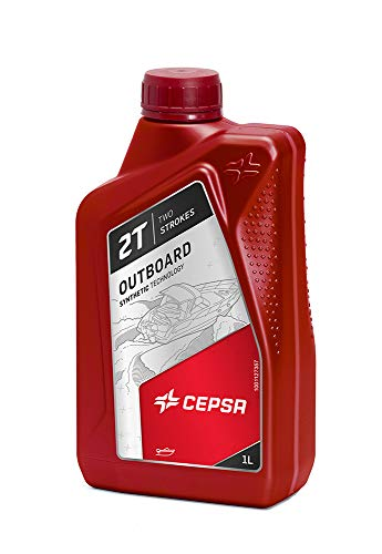 CEPSA 515364188 minerale olie voor tweetakt-buitenboordmotoren FUERABORDA 2T, 1 liter