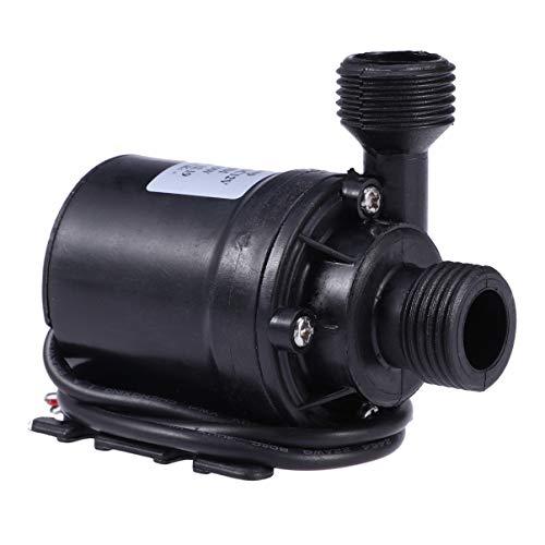 ULTECHNOVO 2 pompe per acqua sommersa Dc 12 V, ultra silenziose, 800 l/h, 5 m, per laghetti di pesce, fontane, beccucci, sistema di circolazione dell'acqua solare