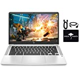 """2020 Newest HP Chromebook 14"""" Full-HD IPS Laptop for Business and Student, Intel Celeron N4020 (up to 2.8GHz), 4GB RAM, 64GB eMMC, Webcam, USB-A&C, WiFi, Bluetooth, w/Ghost Manta Accessories"""