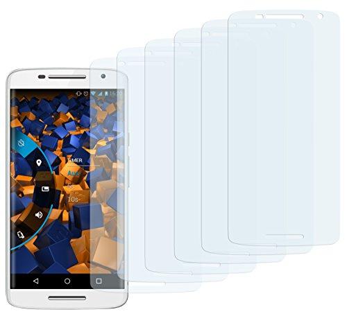 mumbi Schutzfolie kompatibel mit Motorola Moto X Play Folie klar, Bildschirmschutzfolie (6X)
