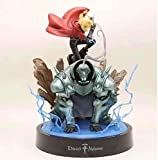 30 cm Nuevo Alquimista Fullmetal Elric Edward Steel Estatua Estatua Personaje de Dibujos Animados Juego Estatua de Juguete Anime Figuras Estatua