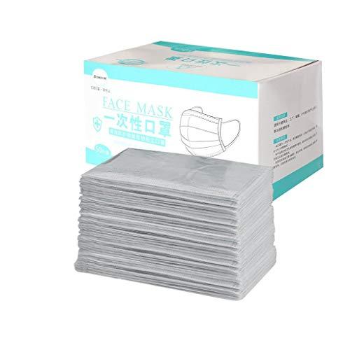 Covermason 50 Stück Mundschutz für Erwachsene, Einzeln Verpackt, Atmungsaktive Face Cover Einweg Multifunktionstuch Halstuch für Herren Damen