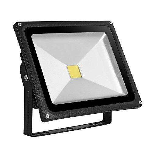 10W/20W/30W/50W/100Wwarmweiß mit schwarz Aluminium Gehäuse IP65 wasserdicht LED Lampe Squre Wandleuchter Fluter Flutbeleuchtung Flutlicht Scheinwerfer Außenstahler Leuchtmittel Energiesparend (30)