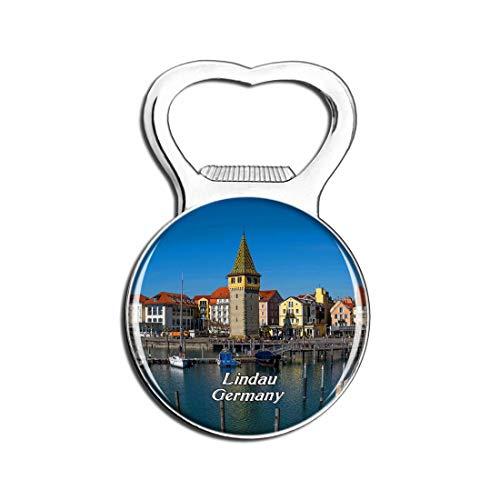 Weekino Lindau Port Deutschland Bier Flaschenöffner Kühlschrank Magnet Metall Souvenir Reise Gift