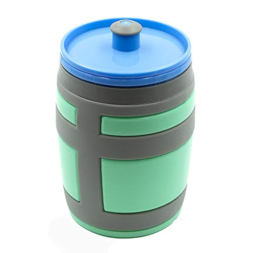 Clip & Carry Chugger Jug 16 oz Water Bottle | BPA-Free Non-Slip Grip Functional Sport Bottle Videogames Gaming Birthday Kids Teens Gamers Battle Royale - Perfect for Parties!
