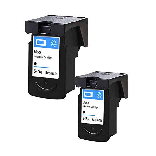 SXCD Cartuchos de Tinta PG-545XL CL-546XL para Canon, Reemplazo para Canon PIXMA MG2450 MX495 TR4550 TS205 Impresora de inyección de Tinta de Alta Rendimiento Compatible 2~Black
