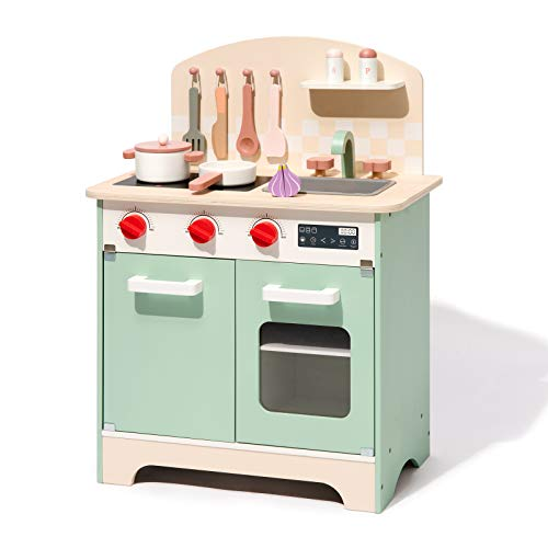 ROBUD Wooden Kitchen Playset for...