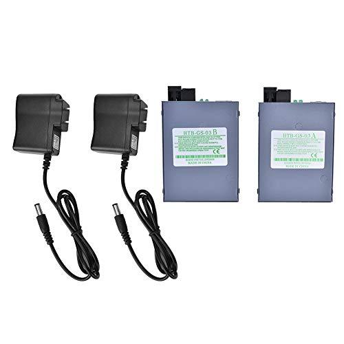 DC 5V 2 Pcs Ethernet Converter, Single Mode Single Core RJ45 Gigabit...