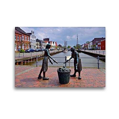 Premium Textil-Leinwand 45 x 30 cm Quer-Format Weener | Wandbild, HD-Bild auf Keilrahmen, Fertigbild auf hochwertigem Vlies, Leinwanddruck von LianeM
