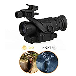 CANIS LATRANS PVS-14 Digital Night Vision Goggle IR Night Vision Monocular with J-Arm Headset Adapter PVS14