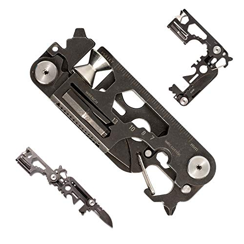 FLEXTAILGEAR Foldable Multi Tool Card Size with Knife Gadget Wallet Set Pocket Kit Camping Outdoor Multitools Accessories for Every Day Carry