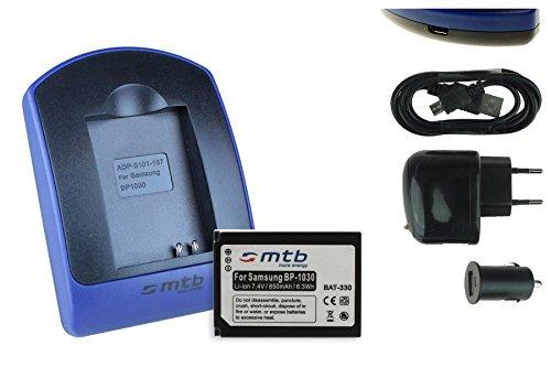 Batteria + Caricabatteria (USB/Auto/Corrente) per ED-BP1030, BP1130 // Samsung NX200 NX210 NX300 NX1100 NX2000. - v. lista!