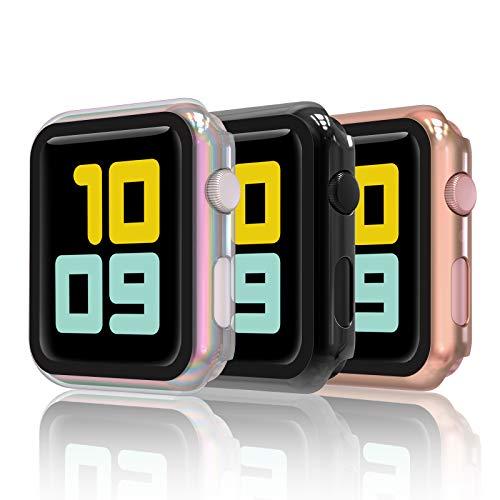iwatch 2 apple 42 mm orologio Hianjoo [3-Pack] Cover con Vetro Temperato Compatibile per Apple Watch 42mm