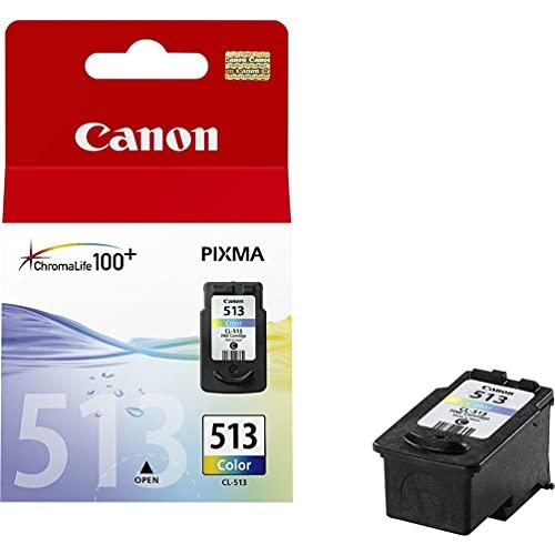 Canon CL-513 Cartucho de tinta original Tricolor para Impresora de Inyeccion de tinta Pixma MX320,330,340,350,360,410,420-MP230,240,250,252,260,270,272,280,282,480,490,492,495,499-IP2700,2702