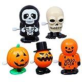 Toyvian 5 Pezzi di Giocattoli a Carica di Halloween Zucca Teschio Fantasma novità Che saltano Giocattoli per Bambini Bambini