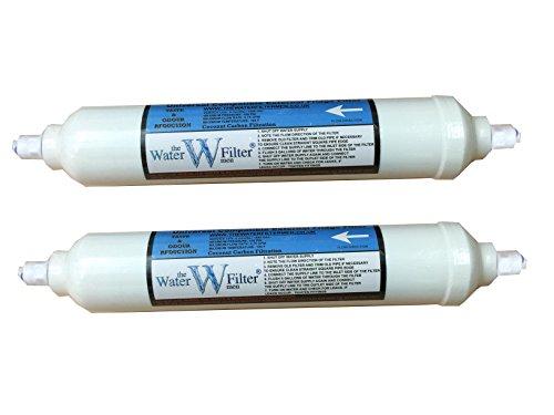 Filtro dell'acqua per frigorifero compatibile con GE, LG, Samsung, Daewoo, linea esterna filtri Bosch Fanale (0,95 cm), confezione da 2