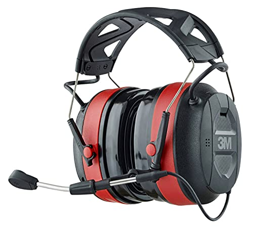3M Pro-Comms Wireless Gel Electronic Hearing Protector with Bluetooth Technology and External Microphones, NRR 26 dB