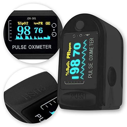 NAmobile Finger Puls Oximeter Blut Sauerstoff Pulsmessgerät Sättigung SpO2 Herzfrequenz