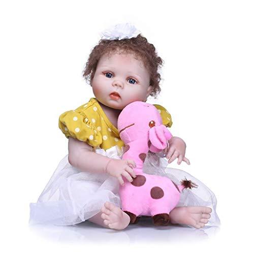 CWYP-MS Munecas Bebes Reales, Muñeca de bebé de simulación de 22 Pulgadas, cumpleaños Infantil Regalo de Alta Gama Realista Muñecas Reborn