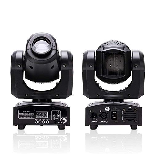 U`King LED Moving Head Light 25W DJ Lights Stage Lighting with 8 Gobo RGBW 4 Color by DMX and Sound Activated Control Spotlight for Disco Party Wedding Church Live Show KTV Club (1 Pack)