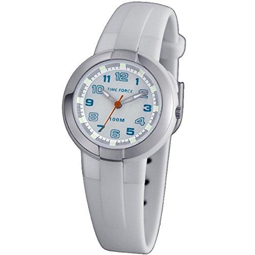 Time Force Tf3387b02 Reloj Analogico para Mujer Caja De Resina Esfera Color Blanco