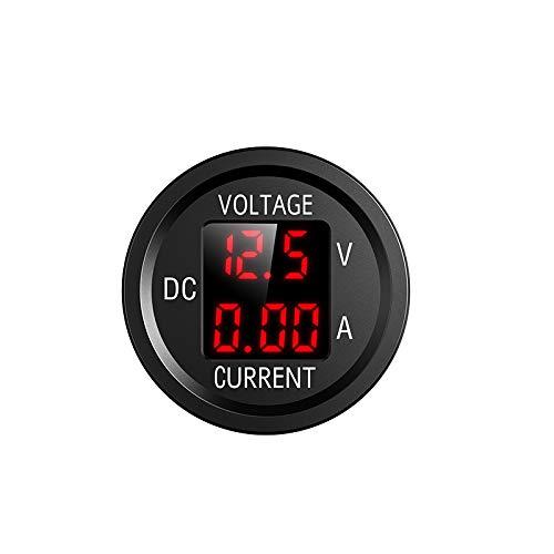 YGL 6V/48V Pantalla de Corriente y Voltaje de DC Voltímetro Amperímetro, con Pantalla Digital LED, Adecuado para Automóviles Motocicletas Camiones Barcos Yates(Rojo)