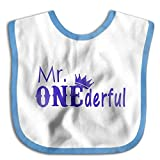 D.ADcustom Mr One Wonderful Saliva - Babero para bebé Royalblue Talla:talla...