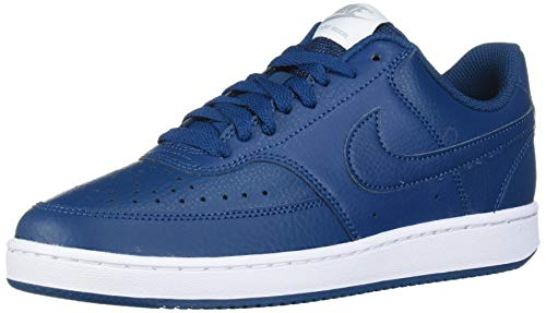 Nike Damen WMNS Court Vision Low Sneaker, Blau (Blue Force/Blue Force/Metallic Silver), 38 EU