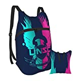 Printed Unsc Backpack Unisex Portable Folding Backpack Travel Sports Shopping Ultra Light Leisure Bag