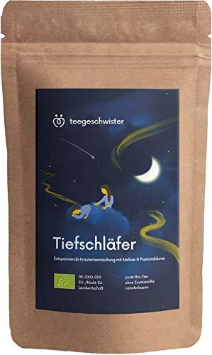 teegeschwister® | BIO Entspannungs-Tee | Kräuter-Tee zur Entspannung vor dem Einschlafen | natürlicher Abend-Tee mit Melisse Baldrian und Fenchel | frei von Zusätzen | 85g