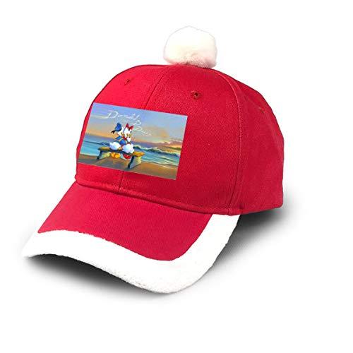 AHISHNF Do-nald - Gorra de béisbol de Papá Noel para niños, Adultos, familias, Celebraciones, Año Rojo