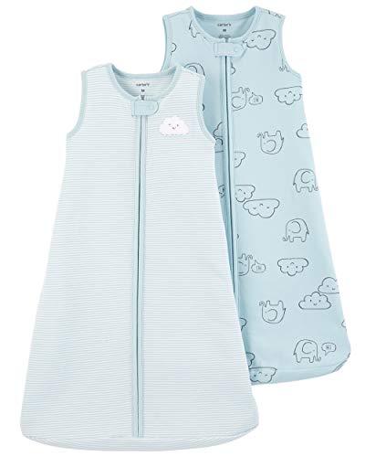 Carter's Baby Boys 2-Pack Cotton Sleepbag, Blue...