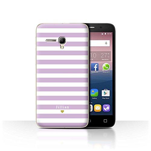 Stuff4Phone Case/Cover/Skin/alcpop355/Custom Stripes/Striped Collection Bébé Coeur Rose